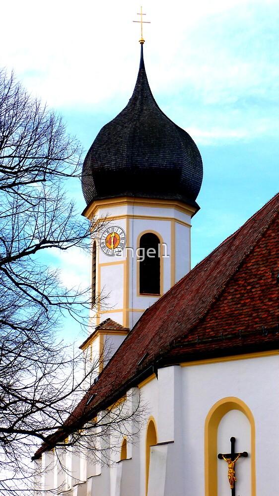 Clocktower Pilgrimage Church Hohenpeissenberg by ©The Creative  Minds