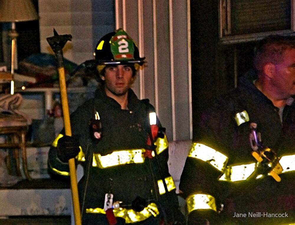 Fireman At Work In My Neighborhood by Jane Neill-Hancock