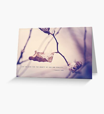Live for the Beauty Greeting Card