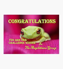 Challenge Banner Amphibians group Photographic Print