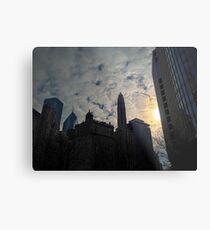 City Clouds Metal Print