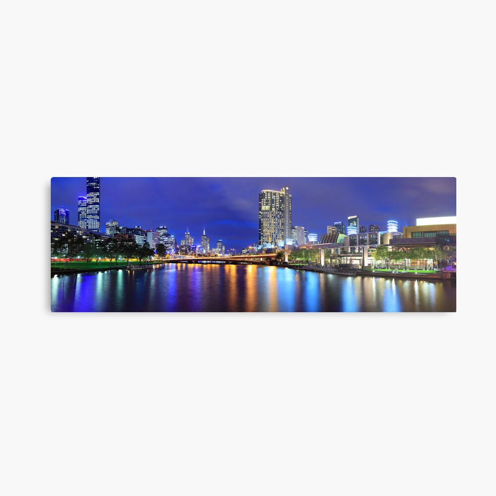 Melbourne City Lights, Victoria, Australia Metal Print