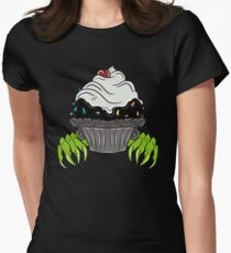 Monster Cupcake Womens Fitted T-Shirt