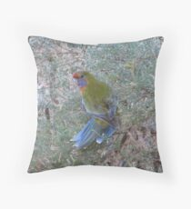 Did you Take the image of my Tail?! Adelaide Rosella, Adelaide Hills, Sth.Aust. Throw Pillow