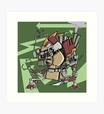 JunkBot Art Print