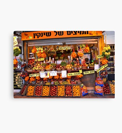 Fruit Vendor - Tel Aviv Canvas Print