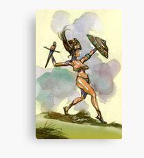 Sword & Shield Canvas Print