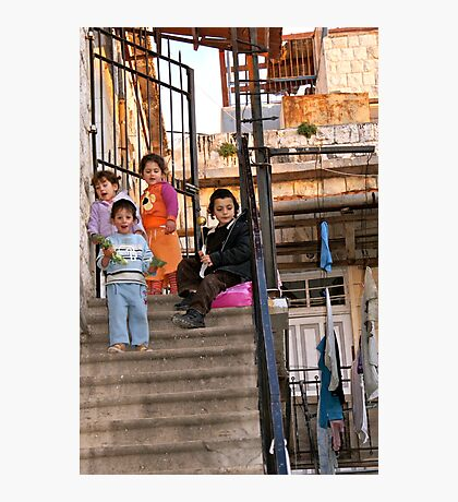 Two Boys and Two Girls - Safed, Israel Photographic Print