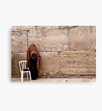 A Woman At The Western Wall Canvas Print