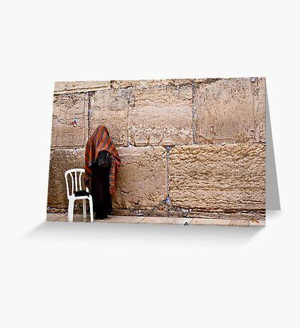 A Woman At The Western Wall Greeting Card