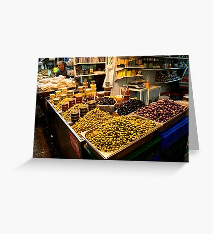 Mountains Of Olives - Jerusalem Greeting Card