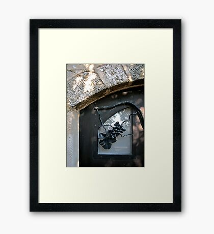 Iron Wrought Grapes - Safed, Israel Framed Print