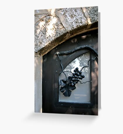 Iron Wrought Grapes - Safed, Israel Greeting Card