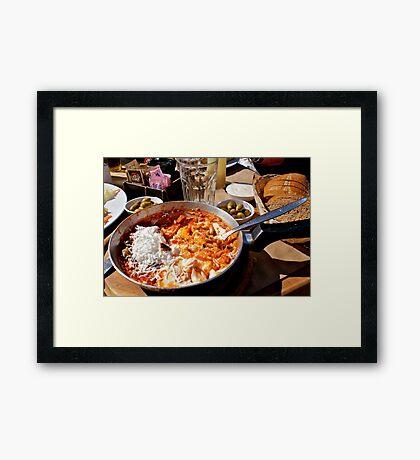 Shakshukah - The Breakfast Of Champions! Framed Print