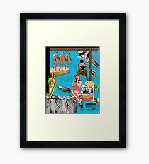 Andy Warhol's Pool Party Framed Print