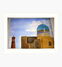 """Detail of  """"Bukhara skyline""""  Art Print"""