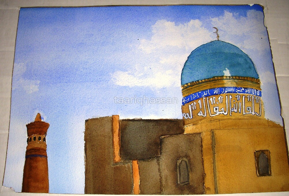 """Detail of  """"Bukhara skyline""""  by taariqhassan"""