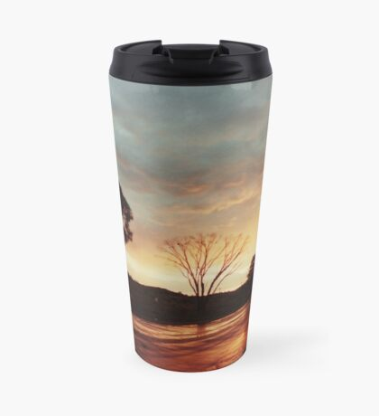 Wet Outback sunset Travel Mug