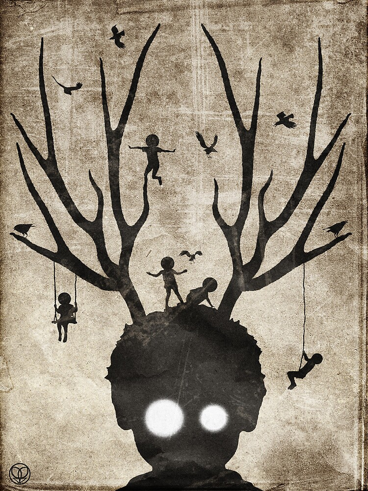 Deer imaginary friends by seamless