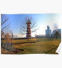 Lefrak point lighthouse Jersey City Poster