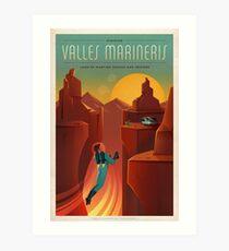 Valles Marineris Art Print