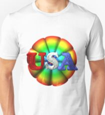 Usa rainbow by valxart  Unisex T-Shirt