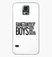 BTS/Bangtan Boys Names Case/Skin for Samsung Galaxy