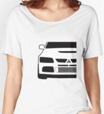 Mitsubishi Lancer Evo - Close Up Zoom Corner Sticker / Tee Design Women's Relaxed Fit T-Shirt