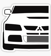 Mitsubishi Lancer Evo - Close Up Zoom Corner Sticker / Tee Design Sticker