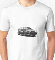 Mitsubishi Evolution X Sticker / Tee - Posterised/Greyscale design T-Shirt