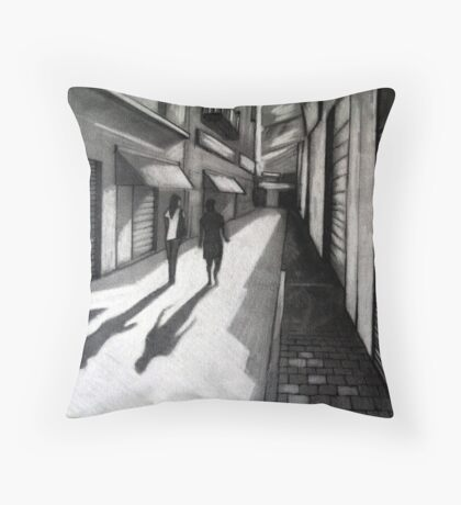 Closed Shops Throw Pillow