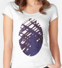 scruffily cross hatched Women's Fitted Scoop T-Shirt