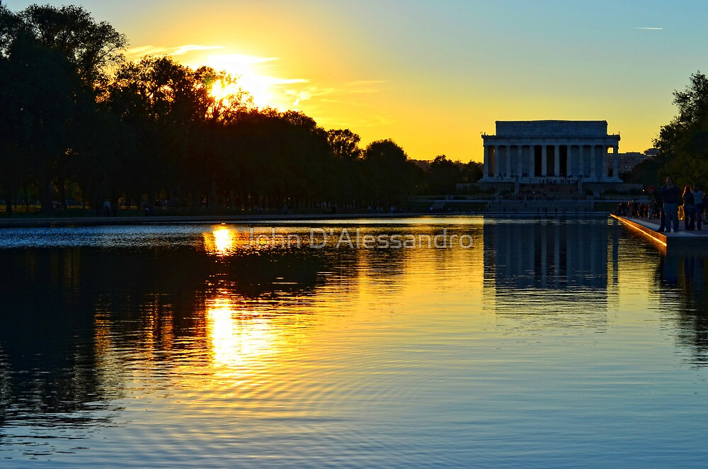 The Lincoln Memorial at Sunset by John D'Alessandro