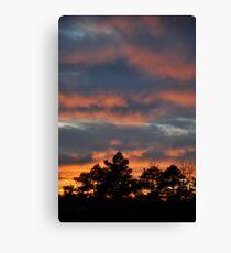 Orange + Blue Sky Canvas Print