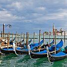 Gondolas near Piazza San Marco in Venice by kirilart