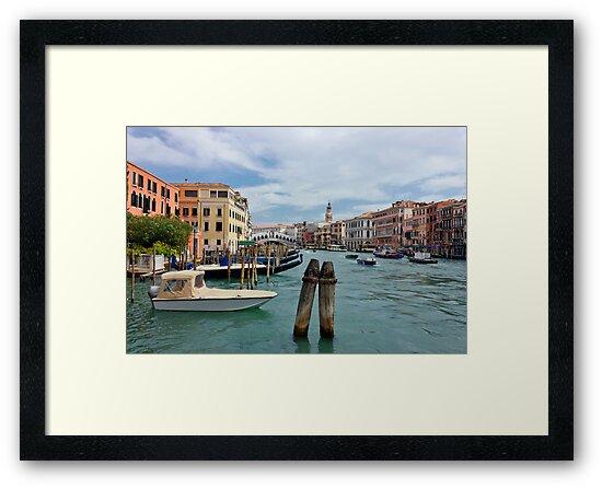 Grand Canal in Venice near Rialto Bridge by kirilart