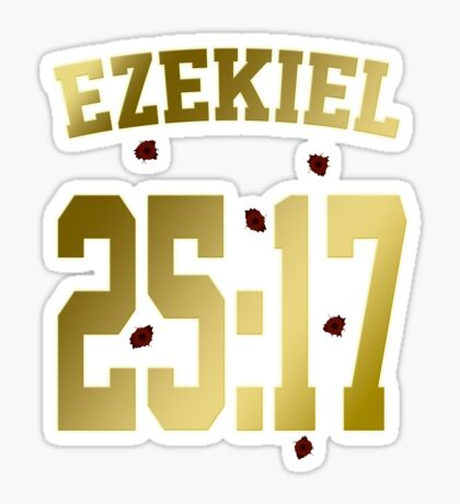 Ezekiel 25:17 Sticker