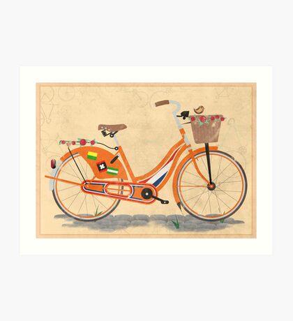 Love Holland, Love Bike Art Print