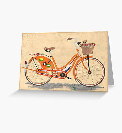Love Holland, Love Bike Greeting Card