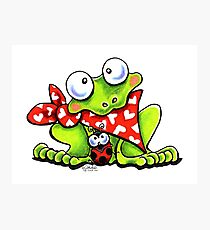 Sweet Frog n Ladybug Fotodruck