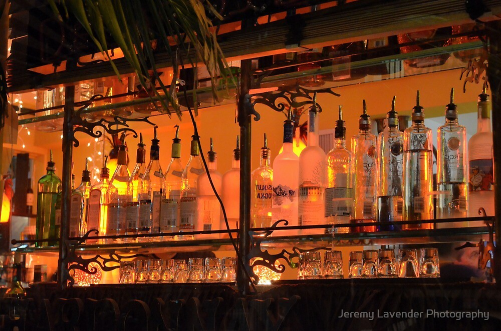 The Back Side of the Bar... Street View on Collins Ave in Miami Beach by Jeremy Lavender Photography