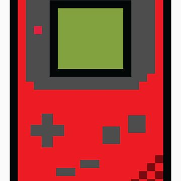 8 bit Gameboy Classic Red by PlatinumBastard