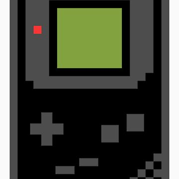 8 bit Gameboy Classic Black by PlatinumBastard