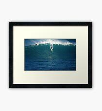 Flying Waimea Bay Framed Print