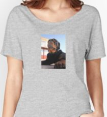Photograph Portrait Of A Handsome Male Rottweiler Dog Women's Relaxed Fit T-Shirt