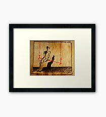 Man On A Red Swing Framed Print