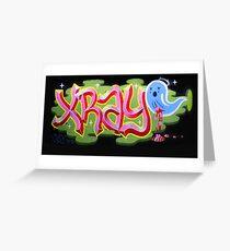 """Bubblegum XRAY & Sad Ghost"" Greeting Card"