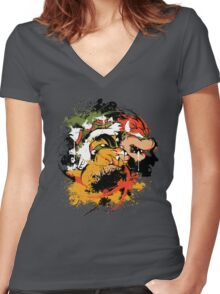 BOW DOWN 2.0 Women's Fitted V-Neck T-Shirt