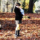 Baby Liam's first fall day. by Stung  Photography