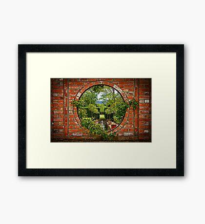 A Window to the Garden Framed Print